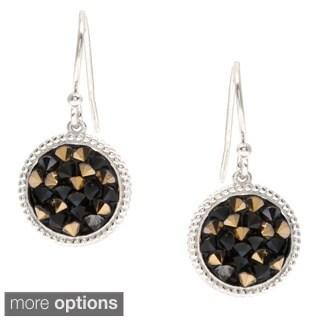 La Preciosa Sterling Silver Crystal Filled Circle Earrings