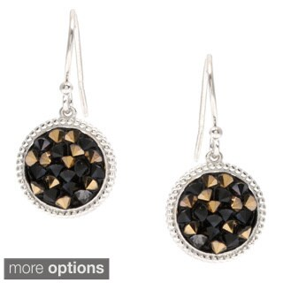 La Preciosa Sterling Silver Crystal Filled Circle Earrings