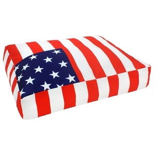 Handmade Small American Flag Dog Bed (India)