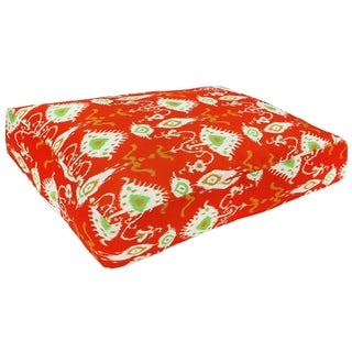Red Ikat Washable Dog Bed (India)