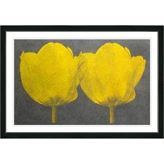 Zhee Singer 'Twin Tulips' Framed Fine Art Print