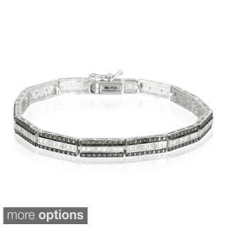 DB Designs Silvertone 1/4ct TDW Diamond Bar Link Bracelet