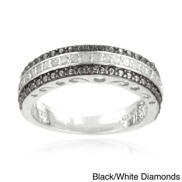 DB Designs Silvertone 1/4ct TDW Diamond Band Ring (I-J, I2-I3)