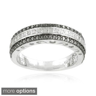 DB Designs Silvertone 1/4ct TDW Diamond Band Ring