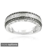DB Designs Silvertone 1/4ct TDW Diamond Band Ring