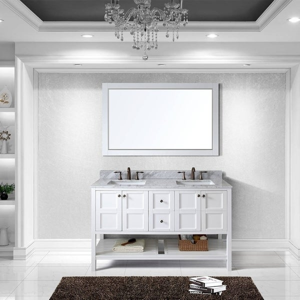 sumptuous design ideas bathroom vanities richmond hill. Virtu USA Winterfell 60 inch Double Sink White Vanity with Carrara  Marble Countertop Backsplash