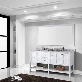 virtu usa winterfell 72inch white carrara marble double sink vanity and mirror
