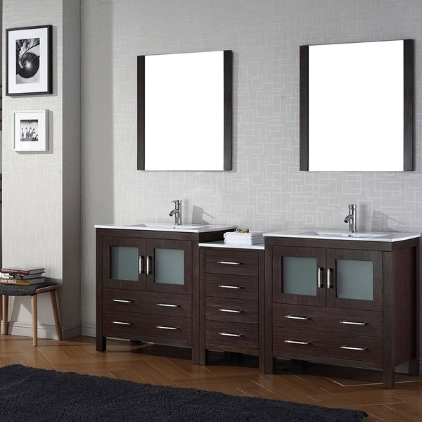 shop virtu usa dior 82 inch double sink vanity set in espresso free shipping today overstock
