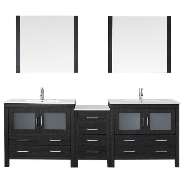 Shop Virtu Usa Dior 90 Inch Double Sink Vanity Set In