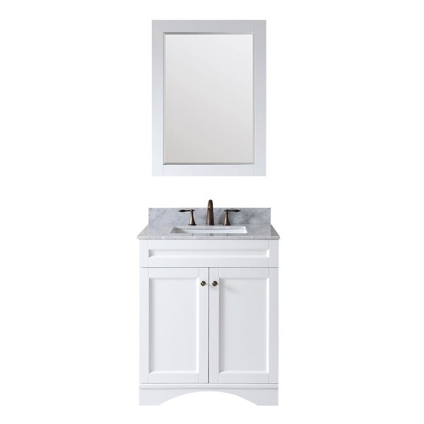Shop Virtu Usa Elise 30 Inch Single Sink White Vanity With Carrara White Marble Countertop And