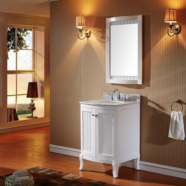 24 Bathroom Vanity With Backsplash virtu usa khaleesi 24 inch single sink white vanity with carrara