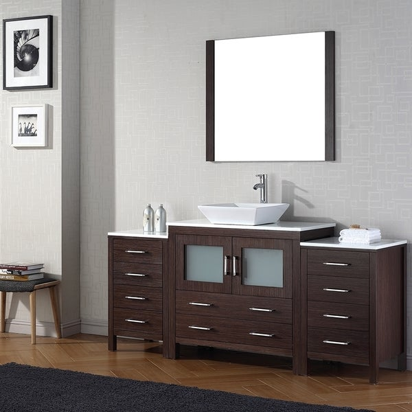 Shop virtu usa dior 72 inch single sink vanity set in - 72 inch single sink bathroom vanity ...