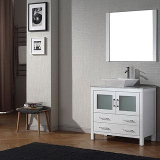 Virtu USA Dior 36 inch Single Sink Vanity Set in White
