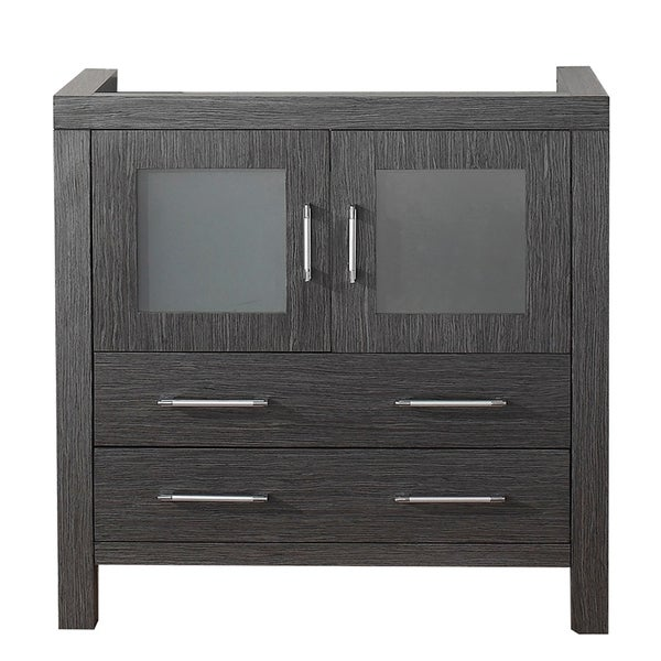 Virtu Usa Dior 36 Inch Zebra Grey Single Sink Cabinet Only Bathroom Vanity Free Shipping Today