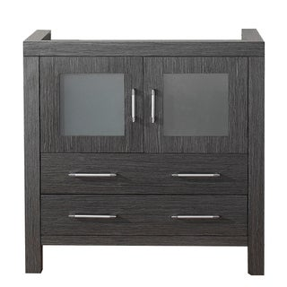 Virtu USA Dior 36-inch Zebra Grey Single Sink Cabinet Only Bathroom Vanity