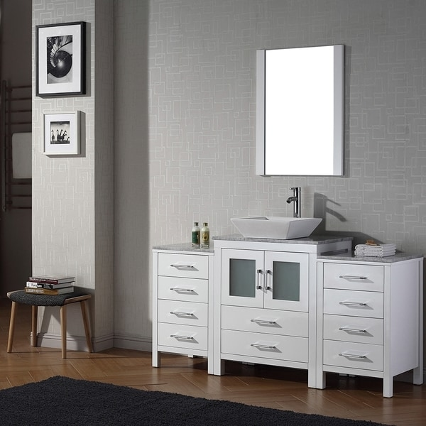 Virtu USA Dior 60 inch Single Sink Vanity Set in White