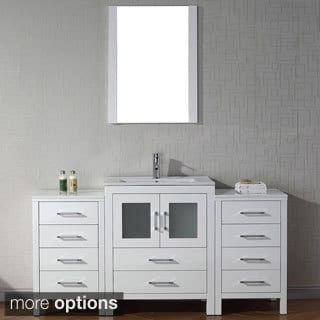Virtu USA Dior 64 inch Single Sink Vanity Set in White