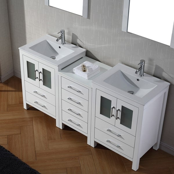 66 vanity double sink. Virtu USA Dior 66 inch Double Sink Vanity Set in White  Free Shipping Today Overstock com 16129149