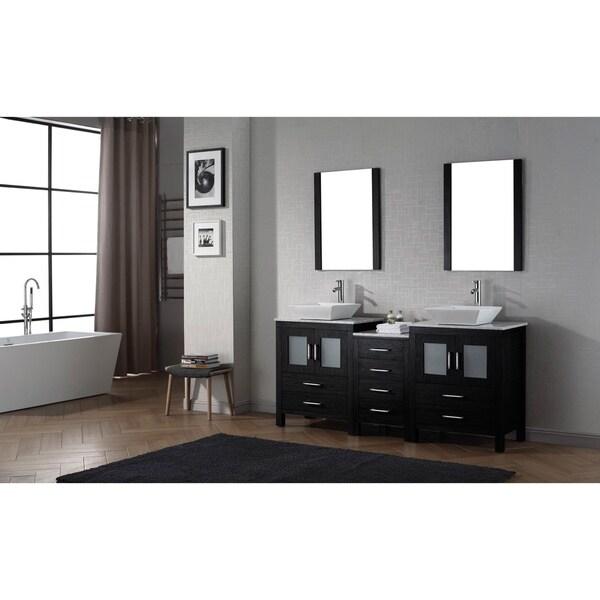 66 inch double vanity. Virtu USA Dior 66 inch Double Sink Vanity Set in Zebra Grey  Free Shipping Today Overstock com 16129150