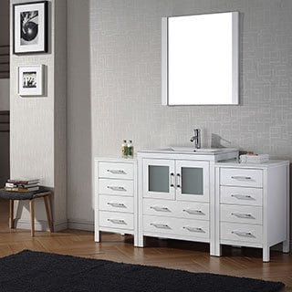 Virtu USA Dior 66 inch Single Sink Vanity Set in White