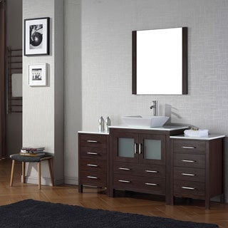 Virtu USA Dior 68 inch Single Sink Vanity Set in Espresso