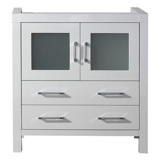 Virtu USA Dior 32-inch White Single Sink Cabinet Only Bathroom Vanity