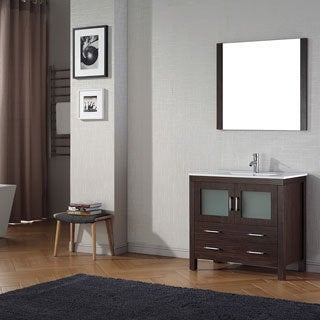 Virtu USA Dior 36 inch Single Sink Vanity Set in Espresso
