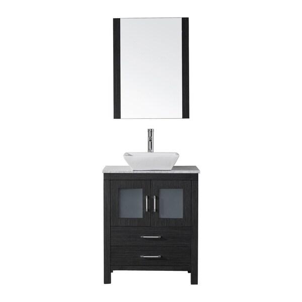 Virtu Usa Dior 24 Inch Single Sink Vanity Set In Zebra Grey Free Shipping Today Overstock