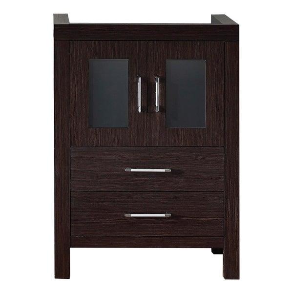 usa dior 24 inch zebra grey single sink cabinet only bathroom vanity