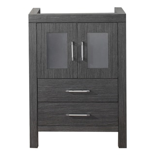 Virtu USA Dior 24-inch Zebra Grey Single Sink Cabinet Only Bathroom Vanity