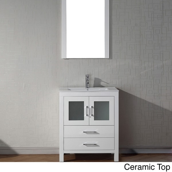 28 inch white bathroom vanity shop virtu usa 28 inch single sink vanity set in 21791