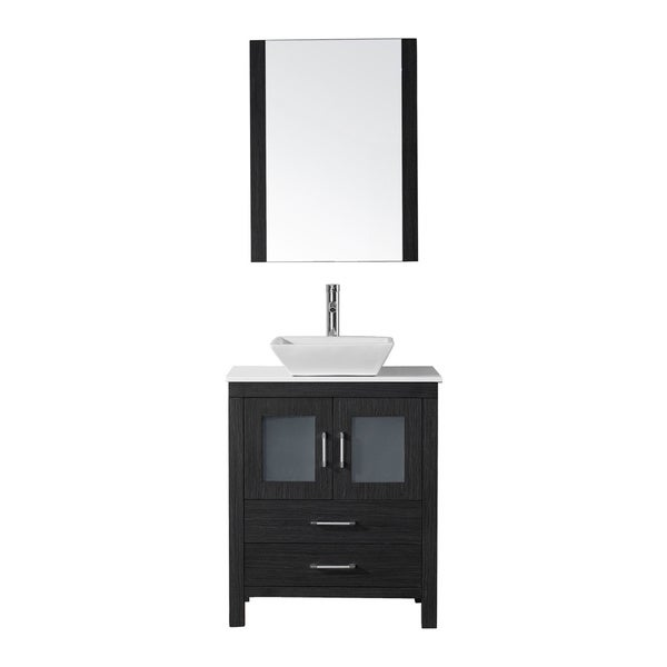 28 bathroom vanity with sink virtu usa 28 inch single sink vanity set in zebra 21789