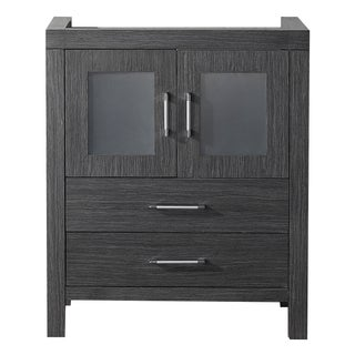Virtu USA Dior 28-inch Zebra Grey Single Sink Cabinet Only Bathroom Vanity