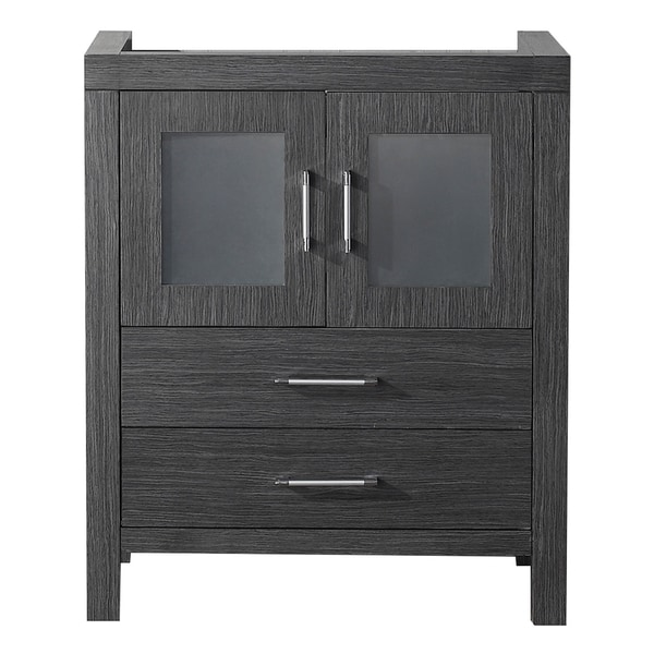 28 inch bathroom vanity cabinet shop virtu usa 28 inch zebra grey single sink cabinet 10143