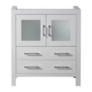 Virtu USA Dior 30-inch White Single Sink Cabinet Only Bathroom Vanity