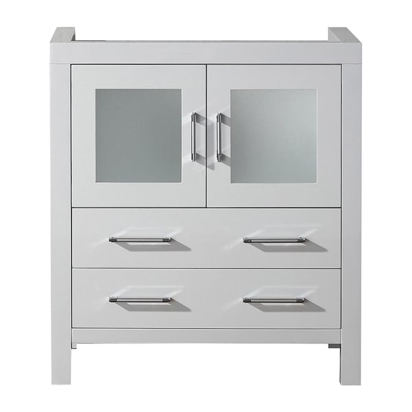 Shop virtu usa dior 30 inch white single sink cabinet only - 30 inch single sink bathroom vanity ...