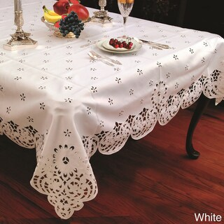 Cut-work Daisy Embroidered Tablecloth (5 options available)