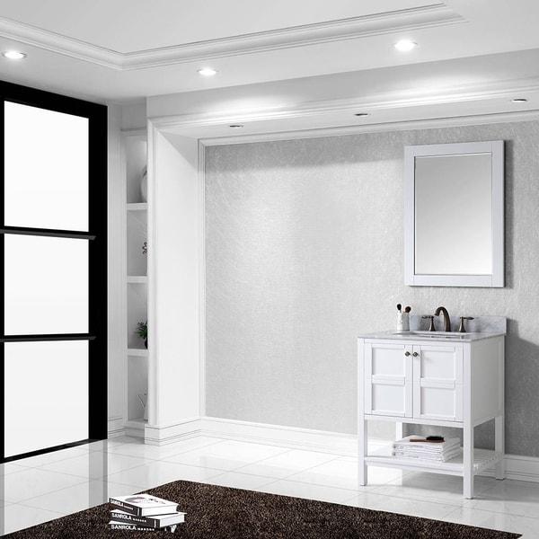 Shop virtu usa winterfell 30 inch single sink white vanity - 30 inch single sink bathroom vanity ...