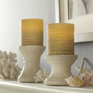 Order Home Collection 2-piece Flameless LED Wax Rope Candle Set