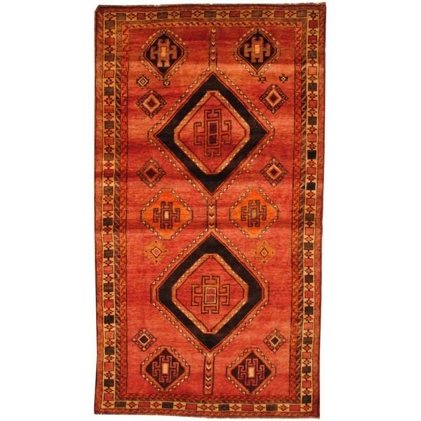 Shop Antique 1960s Persian Hand-knotted Shiraz Red/ Beige