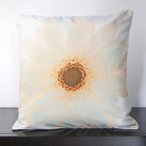 Sunny Sunflower Feather Down Filled or Poly Filled Decorative Throw Pillow