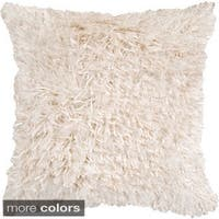 Fluffy Shag 22-inch Sqaure Feather Down Feathers or Poly Filled Decorative Throw Pillow