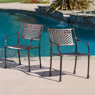 Sebastian Cast Outdoor Chair (Set of 2) by Christopher Knight Home