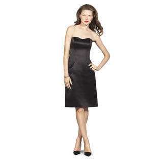 Dessy Collection Women's Halle Strapless Duchess Satin Fitted Sheath Dress