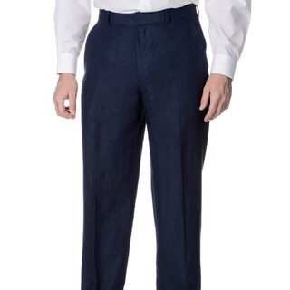 Palm Beach Men's Big and Tall Oxford Navy Suit Separate Pants (5 options available)