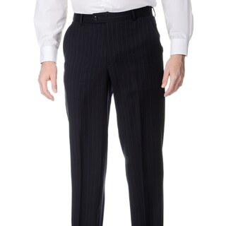 Palm Beach Men's Big and Tall Navy Flat Front Pants (3 options available)