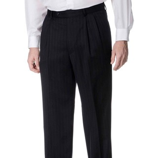 Palm Beach Men's Big and Tall Pleated Front Navy Pants