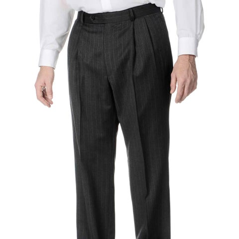 Palm Beach Men's Big and Tall Pleated Front Grey Pants