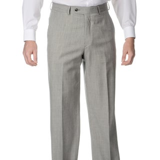 Palm Beach Men's Big and Tall Pleated Grey Stretch Suit Pants (2 options available)