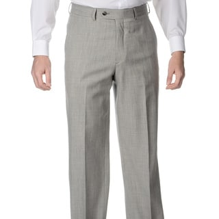 Palm Beach Men's Big and Tall Pleated Grey Stretch Suit Pants